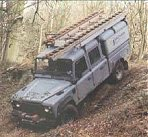 A Southern Electric Land Rover 130 on a training course