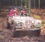 Corporate entertainment days can include driving serious off-road vehicles like this trials Land Rover
